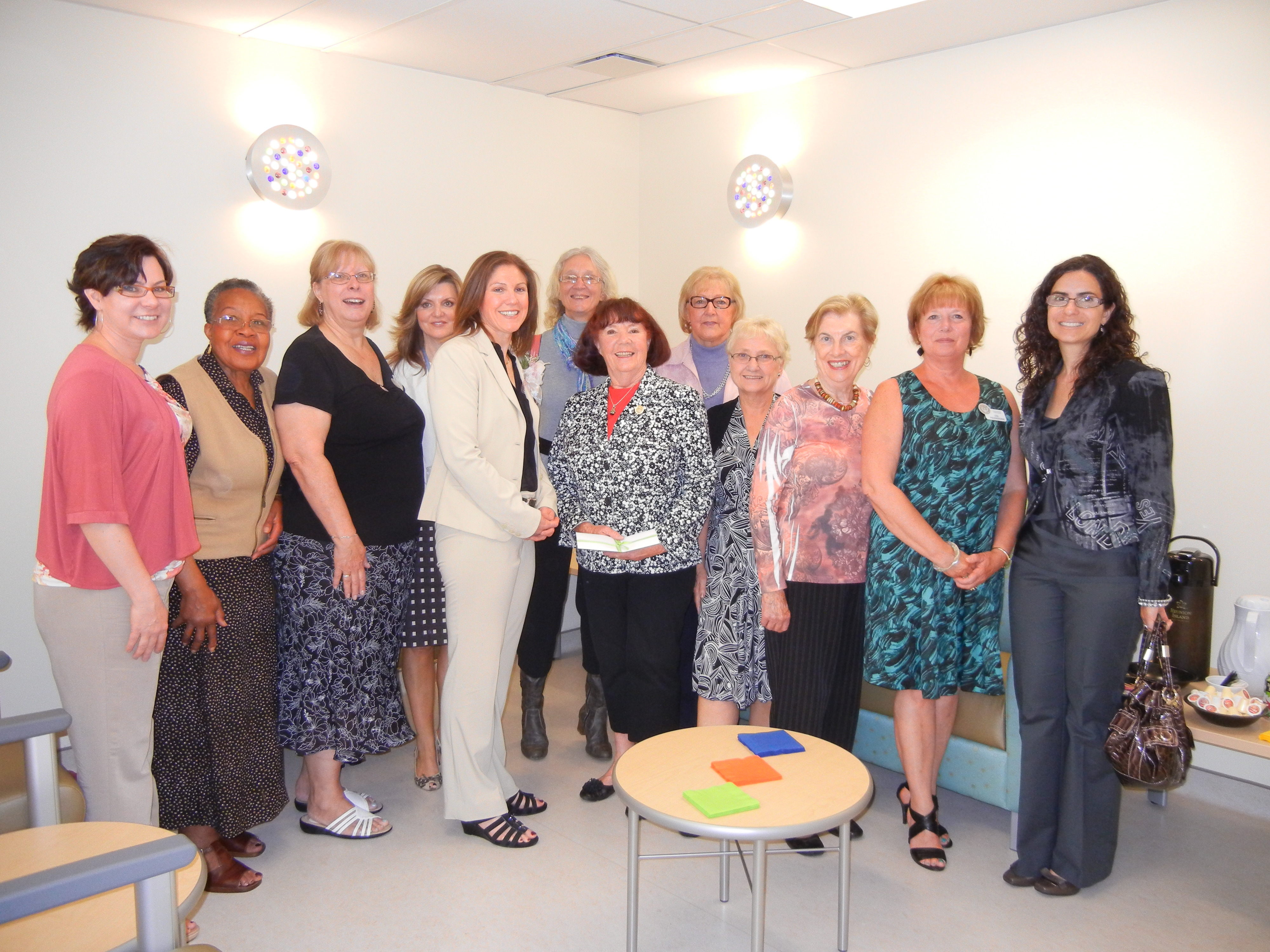 YWCA 2019 Women of Distinction nominees. Soroptimists are in the middle row, 3rd, 4th and 5th from the right: Helen Otrosina, Marion Cavasin and Pat McNeice.